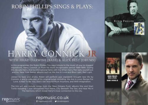 Robin Phillips Sings  Plays - Harry Connick jr A4 Poster (Landscape)v3 - Final lo
